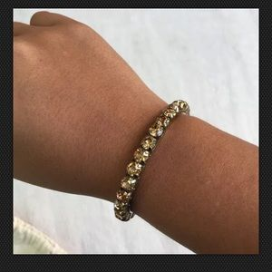 Jcrew Marissa Crystal Bronze Cuff Bracelet
